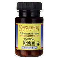 SWANSON Melatonina podwójne uwalnianie 3mg x 60 kapsułek