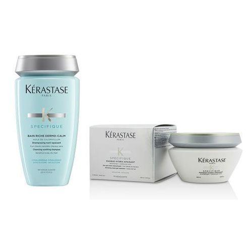Kerastase Zestaw do wrażliwej skóry głowy | Hydra-Apaisant Mask 200ml, Dermo-Calm Riche Bain 250ml
