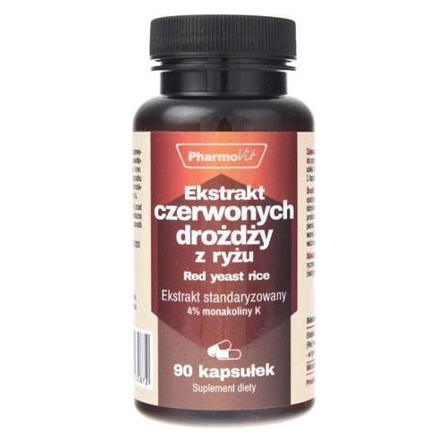Kapsułki Ekstrakt czerwonych drożdży z ryżu-250 mg 90k Pharmovit
