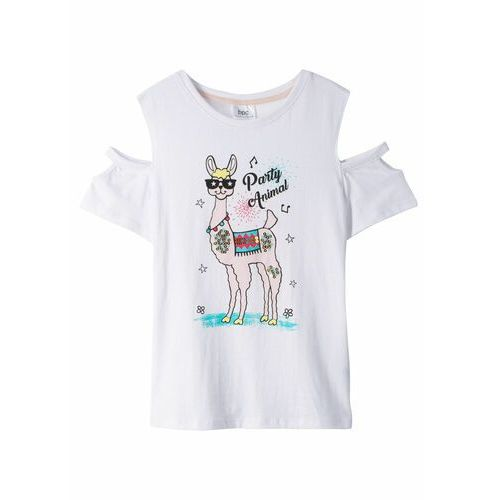 Shirt biały marki Bonprix