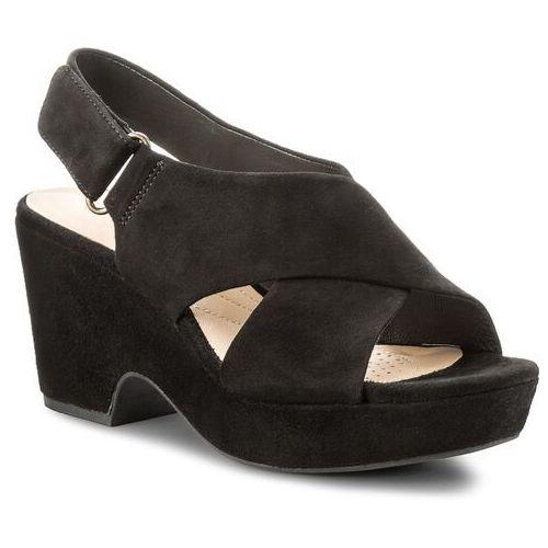 Sandały CLARKS - Maritsa Lara 261317744 Black Suede, kolor czarny
