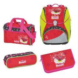 alpha plecak z akcesoriami szkolnymi, 4-częściowy - summertime marki Scout