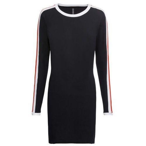 Bonprix Sukienka shirtowa czarny z nadrukiem