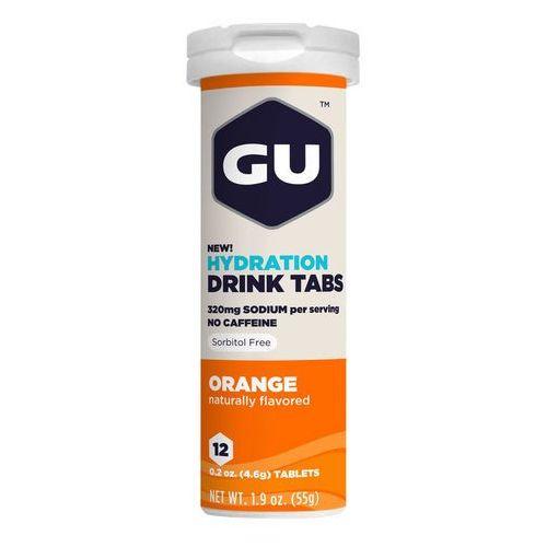 GU Energy Brew Hydration sports drink Orange 12 Tablets orange/white Drinki izotoniczne