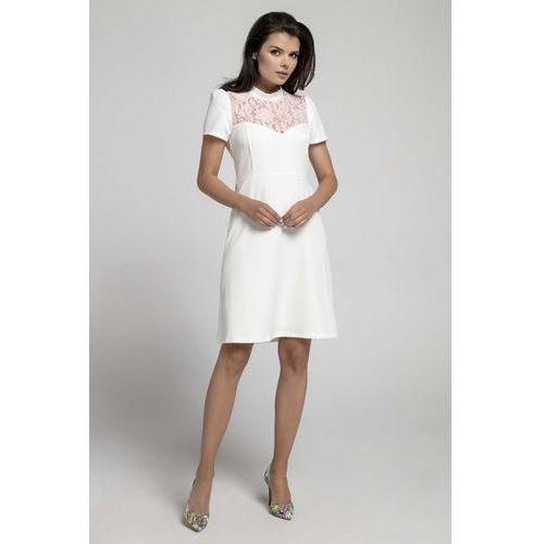 18d7c8b89b7567 Wizytowa rozkloszowana sukienka z koronką (Nommo) - sklep ...