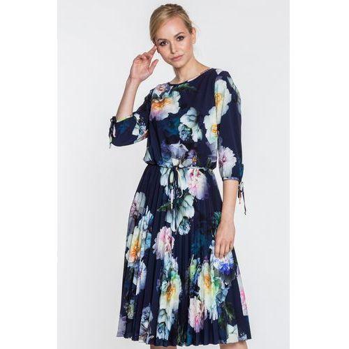 5e79a10e72 Zobacz ofertę Plisowana sukienka w kwiaty aneta Poza