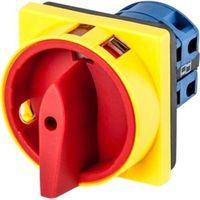 Łącznik krzywkowy 0-1 4P 25A zamykany żółto-czerwony do wbudowania Next (5903263460473)
