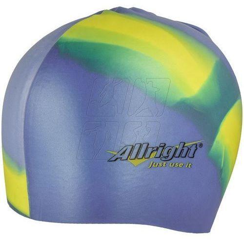 Allright Czepek pływacki silikonowy niebiesko żółty