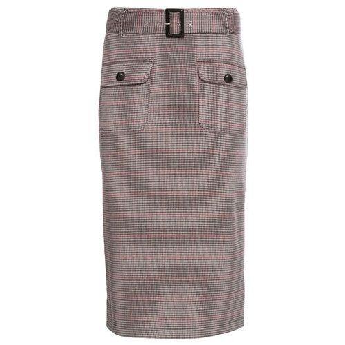 1a994f495f4af0 Spódnica z paskiem bonprix beżowo-czerwony w kratę - Fotografia Spódnica z  paskiem bonprix beżowo