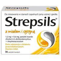 Pastylki STREPSILS z miodem i cytryną x 36 pastylek