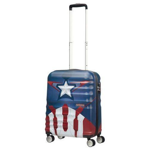 Walizka kabinowa American Tourister Wavebreaker Marvel - Captain America Close-Up