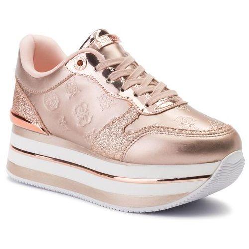 Sneakersy GUESS - Hinders3 FL7HN3 ELE12 ROSE, kolor żółty