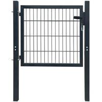 brama ogrodzeniowa stalowa antracytowa, 106 x 150 cm marki Vidaxl