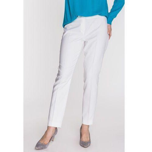 Białe spodnie materiałowe - Metafora, kolor biały