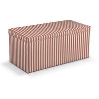 Dekoria  skrzynia tapicerowana, czerwono białe pasy (1,5cm), 120x40x40 cm, quadro