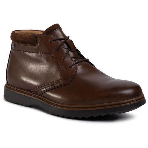 Trzewiki CLARKS - Un Geo Mid Gtx GORE-TEX8 Brown Leather, w 8 rozmiarach