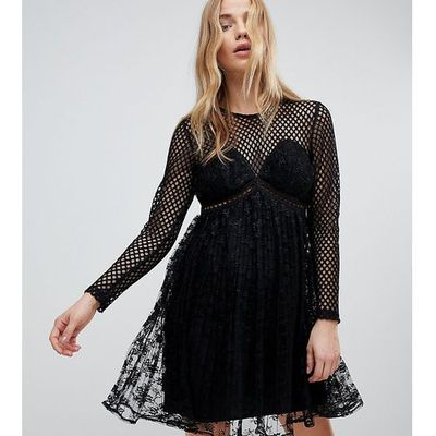 62f1564dbc suknie sukienki rozkloszowana zielona sukienka la robe New Look ...