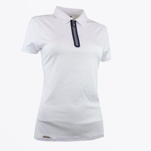 Koszulka polo womans premium (biała) s marki Druids golf