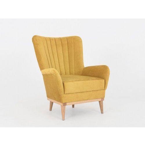 Fotel Na Drewnianych Nóżkach Skandynawski Tapicerowany Bee Różne Kolory Customform