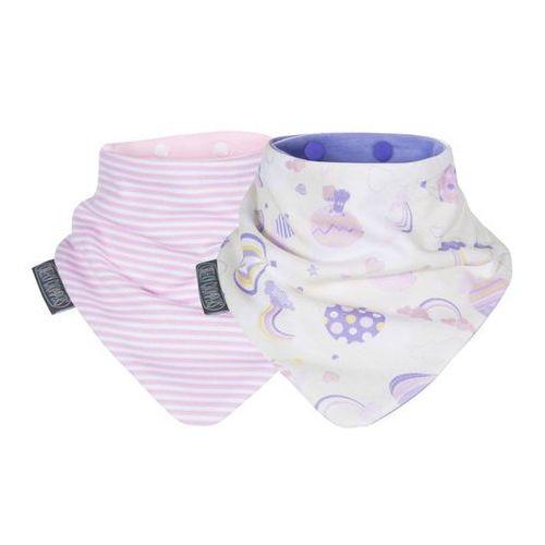 Cheekychompers Zestaw śliniaczków rainbow & pink stripes neckerbibs