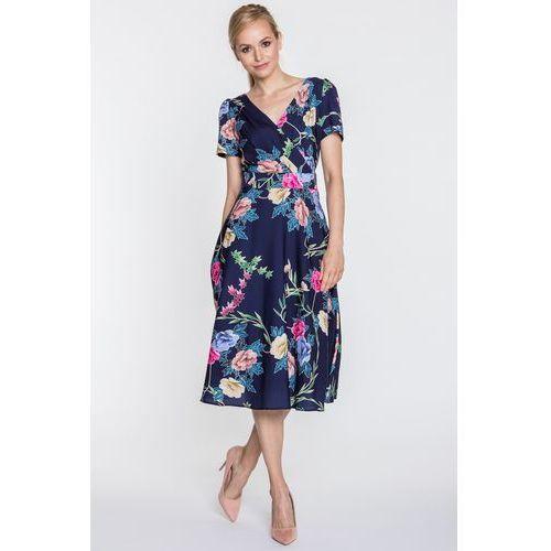 62d895b2 Rozkloszowana sukienka z kopertowym dekoltem polly (POZA)