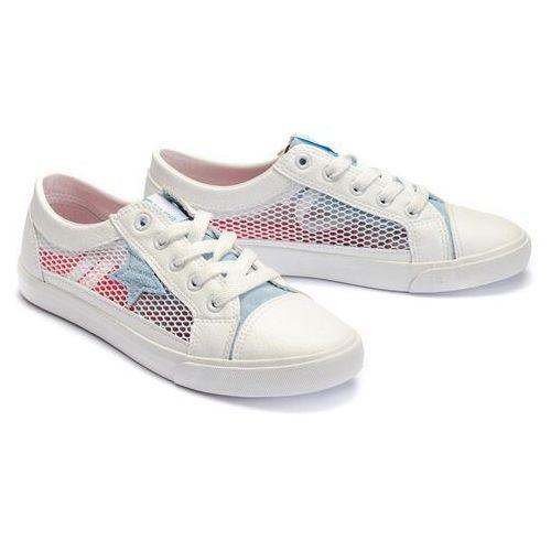 dd274689 biały/niebieski, półbuty damskie - biały ||niebieski marki Big star