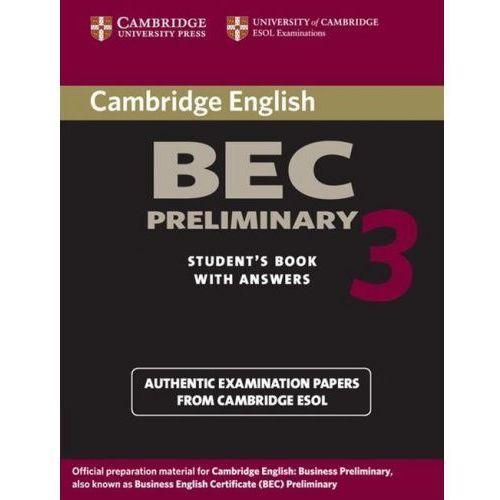 Camb BEC 3 Prel SB w/ans, Cambridge University Press