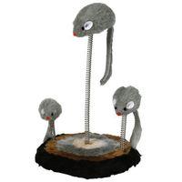 Trixie mysia rodzinka - 3 myszki na sprężynkach zabawka dla kota