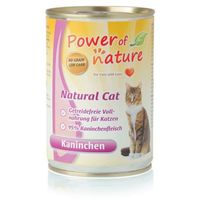 Power of nature natural cat królik karma dla kotów w puszce 12 x 400g