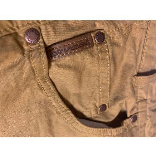 spodnie długie materiałowe musztardowe model 531 118/33 musztardowy bawełna / lycra, Divest