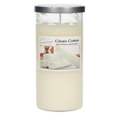 Dekoria Świeca zapachowa Clean Cotton 370g, 7,5x7,5x15,5cm