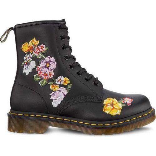 Dr martens 1460 vonda ii black - buty glany damskie - motywy ||motyw ||motyw-kwiaty, Dr. martens
