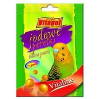 VITAPOL Vitaline perełki jodowe dla papugi falistej 20g