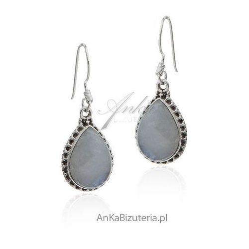 Biżuteria kamień księżycowy - kolczyki srebrne Anka biżuteria
