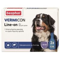 Beaphar Vermicon Line- On krople dla psów od 30kg 3x4.5ml
