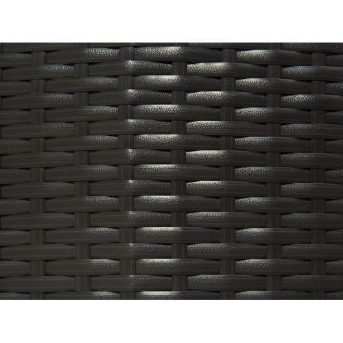 Beliani Rattanowy fotel kosz ogrodowy baldachim - SYLT LUX