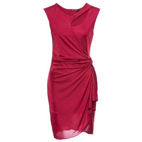 Sukienka z wycięciami bonprix pomarańczowo-czerwony, w 6 rozmiarach