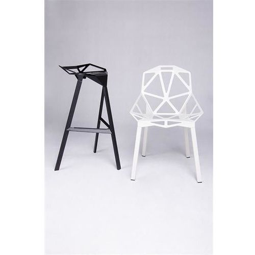 Krzesło SPLIT PREMIUM czarne aluminium, nogi czarne, kolor czarny (KING HOME)