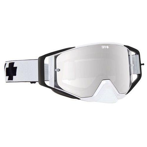Gogle narciarskie ace mx white - smoke w/ silver mirror (+clear anti fog w/ posts) Spy