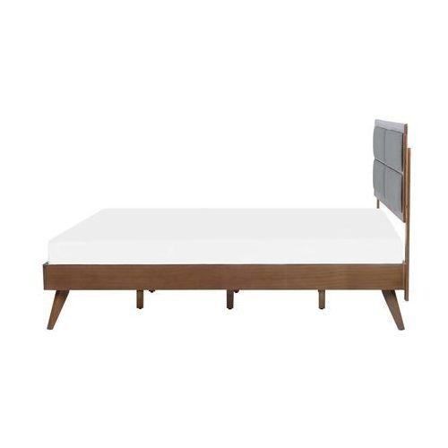 Łóżko wysuwane drewniane szare ze stelażem 90 x 200 cm CAHOR, kolor szary