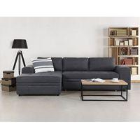 Sofa ciemnoszara - Sofa narożna - Sofa rozkładana - Sofa tapicerowana - KIRUNA