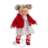Lalka płacząca aitana czerwona brunetka marki Llorens