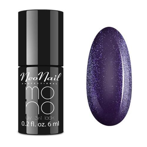 Neonail Mono uv 3 in 1 lack violet glitter - - 6 ml