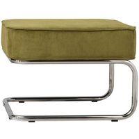 Zuiver  stołek/podnóżek ridge rib zielony 3300007