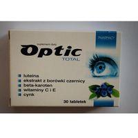 Optic Total tabletki 30 sztuk - zmniejsza uczucia zmęczenia i znużenia oczu Kurier: 13.75, odbiór osobisty: GRATIS! (5907650226482)