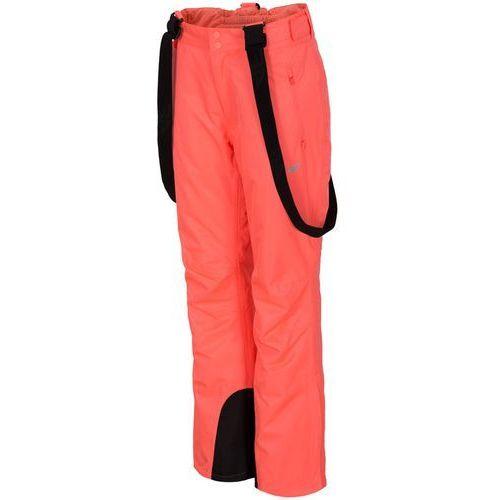 Damskie spodnie narciarskie h4z18 spdn001 łososiowy 64s l marki 4f