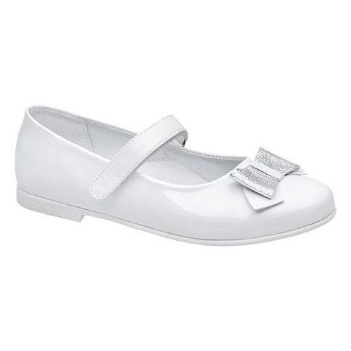 f271fed3 Zobacz w sklepie Balerinki buty komunijne KORNECKI 6270 Białe Lakierki -  Biały