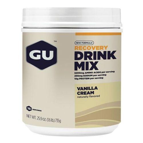Recovery drink mix żywność energetyczna vanilla cream 750g beżowy/biały suplementy fitness Gu energy
