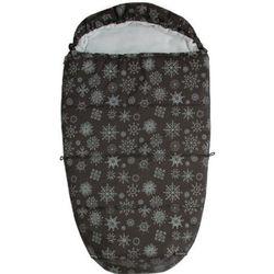 Emitex Śpiworek do wózka MUMIE Płatek śniegu, czarny/szary