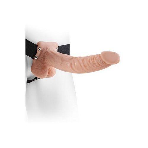 Długi penis na paskach